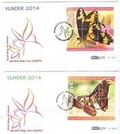 Aruba FDC E199 Zonder Adres. Vlinders, Butterflies, Papillons Date Of Issue: 21-8-2014 - Curaçao, Nederlandse Antillen, Aruba