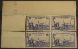 FRANCE Bloc De 4 Du N°426 N**  Cote 80€ - Unused Stamps