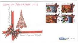 Aruba FDC E201 Zonder Adres. Kerst En Nieuwjaar, Christmas And New Year, Noel, Date Of Issue: 23-10-2014 - Curaçao, Nederlandse Antillen, Aruba