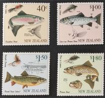 NEW ZEALAND  -1997 -  FISHES - PESCI - 4 V MNH - TROUT - - Fishes