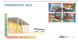 Aruba FDC E202 Zonder Adres. Vissersboten, Fishing Boats, Bateaux De Pêche, Date Of Issue: 23-10-2014 - Curaçao, Nederlandse Antillen, Aruba