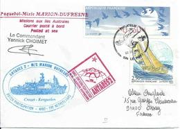 Vignette De Distributeur DIVA - YT 2789 - Voilier - Course Autour Du Monde - Posté à Bord Du Marion Dufresne - 1990 «Oiseaux De Jubert»