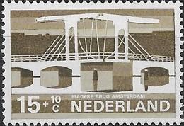 NETHERLANDS 1974 Cultural, Health And Social Welfare Funds, Dutch Bridges - 15c.+10c Magere (Narrow), Amsterdam MNH - Period 1949-1980 (Juliana)