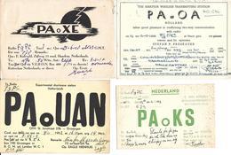 HOLLANDE NEDERLAND NETHERLANDS PAYS-BAS - ROTTERDAM HAARLEM - GRONINGEN -  Very Old QSL Card - About 1940/50 - Carte QSL