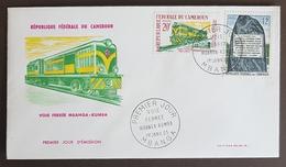 1963 Cameroun, FDC, Voie Ferree Mbanga-Kumba, Trains, Locomotive - Cameroun (1960-...)