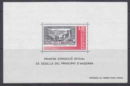 Andorra Fr. 1982 1st Philatelic Exhibition M/s ** Mnh (41425) - Blokken & Velletjes