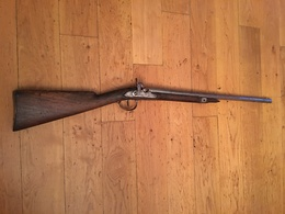 ANCIENNE CARABINE DE TIR A SILEX MODIFIEE A PERCUSSION – VERS 1830 - Armes Neutralisées