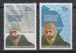 AAT 1982 Sir Douglas Mawson 2v ** Mnh (40425A) - Australisch Antarctisch Territorium (AAT)