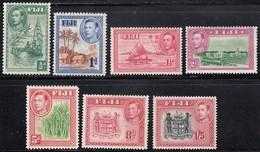 Fiji  1938 GVI Assortment - Unmounted Mint/Mint Previously Hinged - Fiji (...-1970)