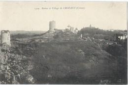 23 -CROZANT - Ruines Et Village - Années 1910s - France