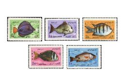 IRAN  - 1973-  FISHES - PESCI - 5 V. -  MNH - MARINE LIFE - - Fische