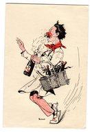 Vieux Menu Illusté Par Buisset Illustateur Caviste Sommelier Bouchon Champagne éditeur Laboratoire G Beytout - Menus