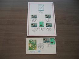 "BELG.1970 1547 & 1548  FDC Filatelia Card + FDC ""Sports - Pêche à La Ligne - Hockey Sur Gazon- Hengelen - Hockey"" - FDC"