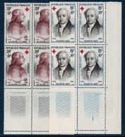 FR 1959 Croix Rouge  N° 1226-1227 ** MNH Bloc De 4 Coin De Feuille - France