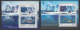 Australia + Russia 1990 Antarctica / Joint Issue 2 M/s ** Mnh (41426) - Territoire Antarctique Australien (AAT)