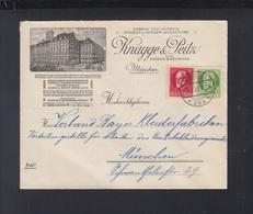 Bayern Brief 1920 Knagge & Peitz München - Bavière