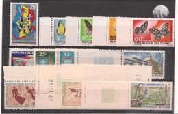 TCHAD  Année 1967 Complète   N° Y/T : 136/148** - Tchad (1960-...)