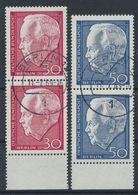 Berlin 1967 / MiNr.   314 – 315  Senkrechte Paare  Unterrand    O / Used  (f2091) - Berlin (West)