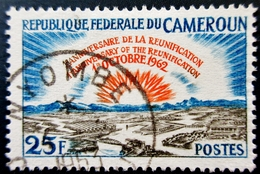 1963 Cameroun  Yt:CM 358 .Sun Rising Over City.  1st Anniv. Of The Reunification Of Camerou . Oblitération NYOMBE 1963 - Cameroun (1960-...)