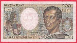 """200 Francs """"Montesquieu"""" 1981---F/TTB+---Série L.005--AUCUN TROU D EPINGLE - 200 F 1981-1994 ''Montesquieu''"""