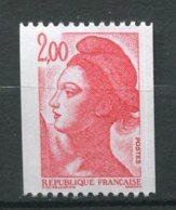 9949 FRANCE N° 2277a ** 2F Rouge  Liberté Avec N° Rouge  820   1983  SUPERBE - 1982-90 Liberté De Gandon