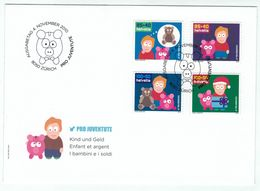 Suisse /Schweiz/Svizzera/Switzerland // FDC // 2010 //  Pro-Juventute Série 2010 Sur Lettre  1er Jour - Pro Juventute