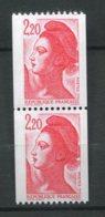 9961 FRANCE N° 2379/79a ** 2F20 Rouge  Paire  Liberté Avec N° Rouge  420 (a)  1985  SUPERBE - 1982-90 Liberté De Gandon