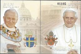 Panama 2007 ** Homenaje A Los Papas Juan Pablo II Y Benedicto XVI. Religion. Cristiandad. - Panama