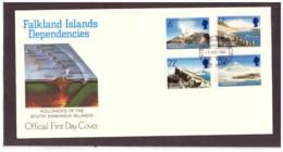 113      -     FALKLANDS ISL. DEP.      /   FDC  Y&T. Nr.    137/140 - Vulcani