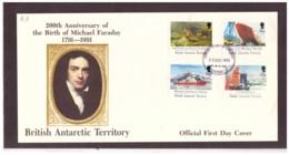 141      -    BRITISH ANTARTIC TERRITORY        /   FDC  Y&T. Nr.   205/208 - FDC