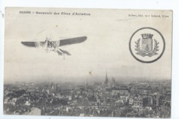 Cpa - 21 -   - Dijon -  Souvenir Des Fetes  D'aviation - Dijon