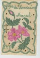 GUERRE 1914-18 -Belle CPA Brodée Travail De Poilu Sur Le Front CROIX DE LORRAINE - MARCEL -Sce Des Troupes De Campagne - Guerra 1914-18