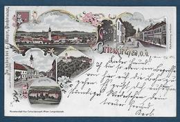 Gruss Aus GRIESKIRCHEN - 1897 - 2 Scans - Grieskirchen
