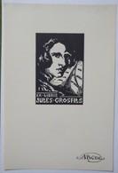 Ex-libris Illustré Belgique XXème - Jules GROSFILS - Sigle ABCDE Sur Le Papier - Ex-libris