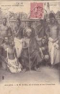 AFRIQUE. DAHOMEY. BENIN  CPA. S.M. GIA-GIA ROI D'ALLADA ET SES CONSEILLERS. ANNEE 1905 - Dahomey
