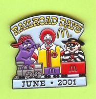Pin's Mac Do McDonald's Railroad Days Train - 6BB23 - McDonald's