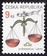 Timbre-poste Gommé Neuf** - Signe Du Zodiaque Balance - N° 212 (Yvert) - République Tchèque 1999 - Tchéquie