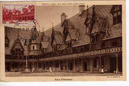 Carte Maximum Avec N°539 Hotel Dieu De Beaune Oblitérée 1er Jour 23/3/42  Cote Yvert : C6  70E - Cartes-Maximum