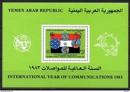 Yemen - Bloc Feuillet - 1983 - Yvert : ??? ** - Année Internationale Des Communications - Yémen