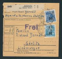 PAKETKARTE Mit MiNr. 437+441 Von RÄCKELWITZ A über KAMENZ (SACHS) 14.1.55. 10 Nach GÖRLITZ - Briefe U. Dokumente