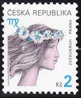 Timbre-poste Gommé Neuf** - Signe Du Zodiaque Vierge - N° 246 (Yvert) - République Tchèque 2000 - Tchéquie