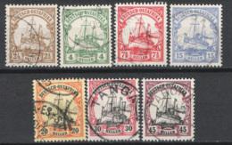 Africa Orientale 1905 Y.T 22/28 O/Used VF/F - Kolonie: Duits Oost-Afrika