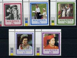 Maurice ** N° 650 à 654 - 60 Ans De La Reine Elizabeth II - Mauritius (1968-...)