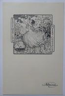 Ex-libris Illustré Belgique XXème - Cercle Horticole Du Vert Chasseur - Sigle ABCDE Sur Le Papier - Ex-libris