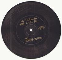"""Disque Souple """" Le 11 Décembre 1968 à 15h30 ... """" Sur France Inter - Formats Spéciaux"""