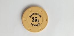Napoleons Casino London UK 25p Casino Chip Jeton - Casino