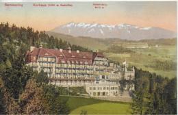 AK 0093  Semmering - Kurhaus Gegen Schneeberg / Verlag Nachbargauer Um 1910 - Semmering