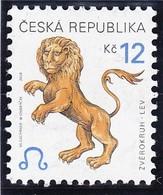 Timbre-poste Gommé Neuf** - Signe Du Zodiaque Lion - N° 268 (Yvert) - République Tchèque 2001 - Tchéquie