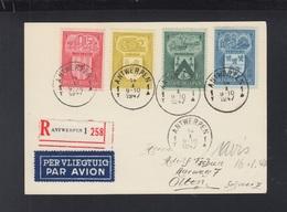 Postkaart Par Avion Antwerpen 1947 - Belgien
