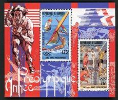 DJIBOUTI Bloc Spécial Collectif Sur Papier Gommé De La Poste Aérienne N° 181 à 182  ANNEE PREOLYMPIQUE  (1983) - Giochi Olimpici